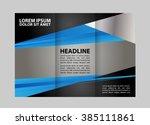 custom tri fold brochure... | Shutterstock .eps vector #385111861