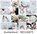 wedding photo set  the details...   Shutterstock . vector #385120879