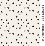 Vector seamless pattern. Modern stylish texture. Repeating geometric tiles. Hipster simple design with randomly disposed triangles. | Shutterstock vector #385126351