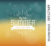 summer sale collection. vector... | Shutterstock .eps vector #385127689