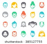 avatar and people icons.... | Shutterstock .eps vector #385127755