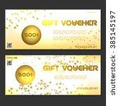 gift voucher. vector ... | Shutterstock .eps vector #385145197