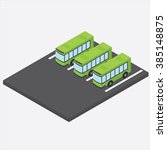 Isometric Bus Parking.vector...