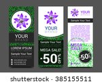 set of vertical banners for... | Shutterstock .eps vector #385155511