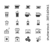 coffee and drink icons | Shutterstock .eps vector #385160461
