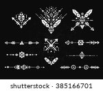 hand drawn tribal collection... | Shutterstock . vector #385166701