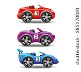 vector set. racing cars. | Shutterstock .eps vector #385170031