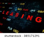 finance concept  leasing on... | Shutterstock . vector #385171291