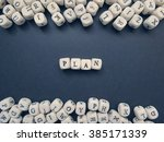 word plan of small white cubes...   Shutterstock . vector #385171339
