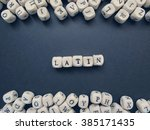 word latin of small white...   Shutterstock . vector #385171435