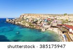 popeye village  malta  ... | Shutterstock . vector #385175947