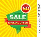 sale vector origami concept... | Shutterstock .eps vector #385179265