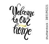 hand lettering typography... | Shutterstock .eps vector #385190221