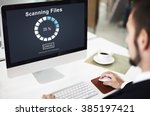 scanning files searching... | Shutterstock . vector #385197421