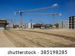 work on the construction site | Shutterstock . vector #385198285