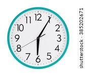 five minutes past six on the... | Shutterstock . vector #385202671