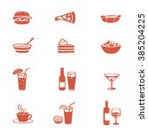 food and drink icons set. menu... | Shutterstock .eps vector #385204225