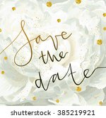 trendy invitation template with ... | Shutterstock . vector #385219921