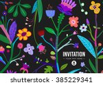 bright and colorful floral... | Shutterstock .eps vector #385229341