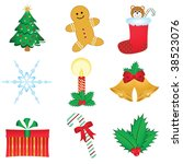christmas icons | Shutterstock . vector #38523076