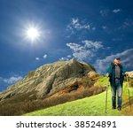 hiker in a mountains | Shutterstock . vector #38524891