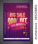 big sale banner  sale poster ... | Shutterstock .eps vector #385258801