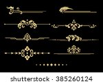 vintage set of decorative... | Shutterstock . vector #385260124