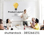 new product launch marketing... | Shutterstock . vector #385266151