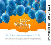 vector happy birthday card with ... | Shutterstock .eps vector #385271125