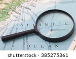 Magnifying Glass In Front Of A...