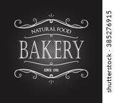 vintage monochrome bakery... | Shutterstock .eps vector #385276915