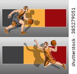 basketball player with a... | Shutterstock .eps vector #385279051