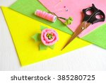 Brooch Flower Felt  Scissors ...