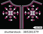ethnic neck line embroidery... | Shutterstock .eps vector #385281379