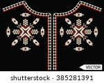ethnic neck line embroidery... | Shutterstock .eps vector #385281391