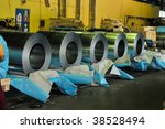 rolls of steel sheet in a... | Shutterstock . vector #38528494