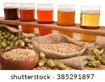 beer crate with many different... | Shutterstock . vector #385291897