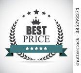 best price label illustration... | Shutterstock .eps vector #385293271