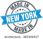 made in new york blue round...   Shutterstock .eps vector #385306927