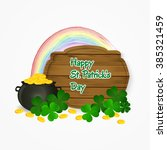 saint patrick's day pot of gold ... | Shutterstock .eps vector #385321459