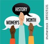 women's history month design... | Shutterstock .eps vector #385325131