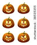 six vector fun and terrible... | Shutterstock .eps vector #38535355