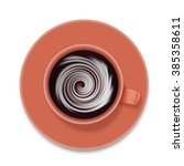 coffee cup  top view  with... | Shutterstock . vector #385358611
