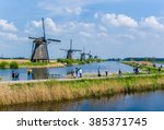 Kinderdijk  The Netherlands ...