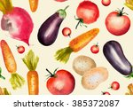 watercolor seamless pattern... | Shutterstock . vector #385372087