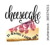 hand drawn watercolor slice of... | Shutterstock .eps vector #385374211