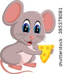 illustration of cute mouse... | Shutterstock .eps vector #385378081