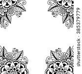 black flower frame  lace...   Shutterstock .eps vector #385379779