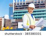 engineer builder at... | Shutterstock . vector #385380331