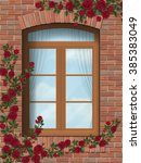 Arched Window In Brick Wall...